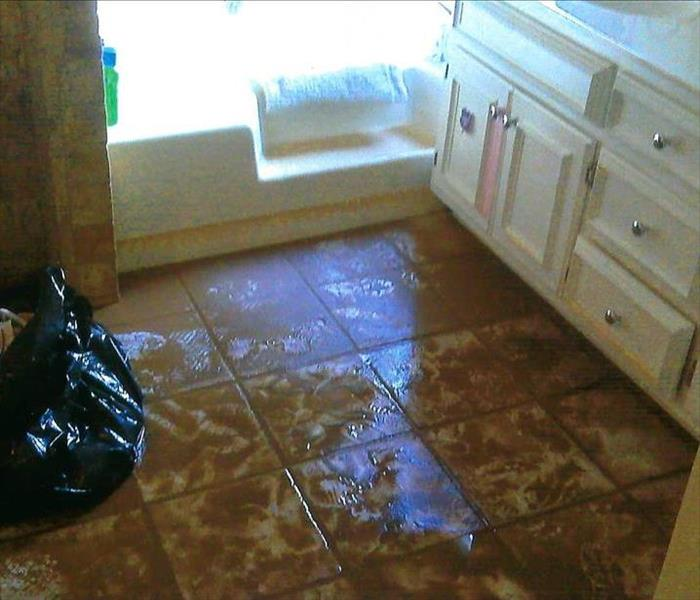 Bathroom Flooded by Water From Exterior of Home Before