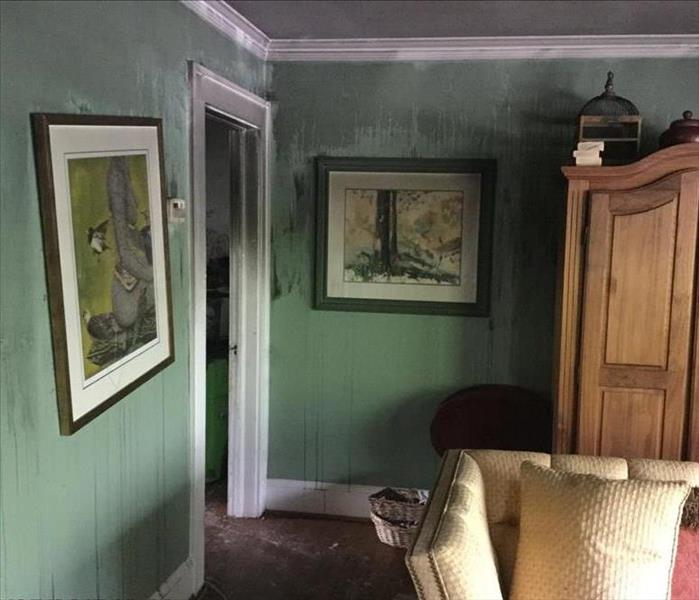 Smoke Damage in Living Room