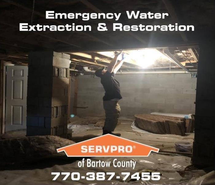 emergency water mitigation insulation removal and inspectoin